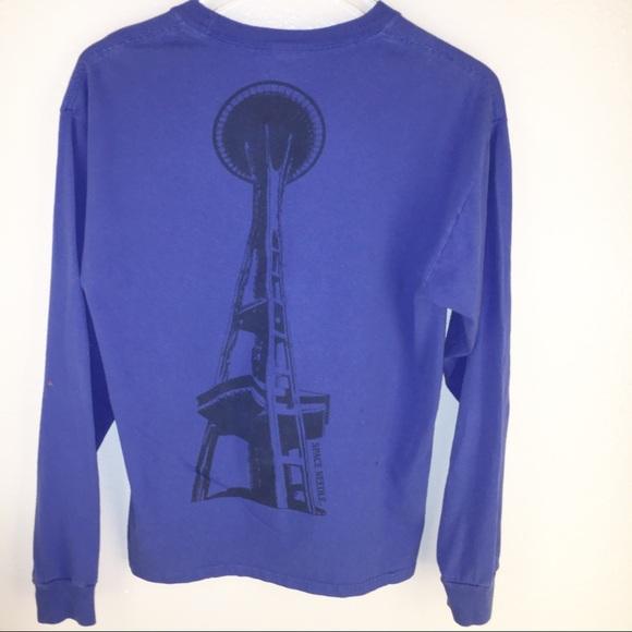 8e8d28c30 Funny Blue Long Sleeve Adult Men's sz Mes Seattle